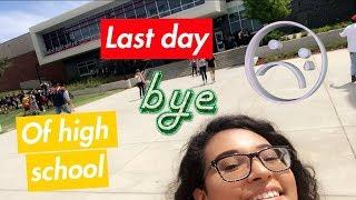 MY LAST DAY OF HIGH SCHOOL/ VLOG🎓❤️💛🍾