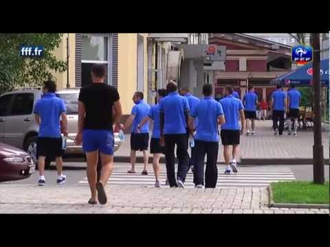 image vido Equipe de France - Balade dans les rues de Donetsk pour les Bleus
