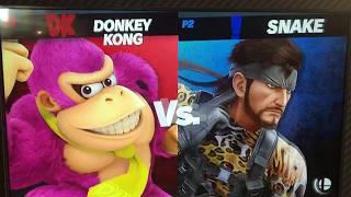 ORG ramble (Donkey Kong) vs Aluf (Snake) - Armageddon Expo 2018 Super Smash Bros Ultimate Demo