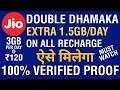 Jio Double Dhamaka Offer: How to get 1.5GB Per Day Extra? | How to Get 3GB Per Day Jio Data | V Talk thumbnail