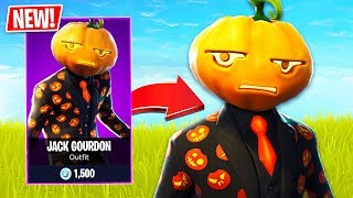 *NEW* Halloween JACK GOURDON Pumpkin Skin in Fortnite!! (Fortnite Live Gameplay)