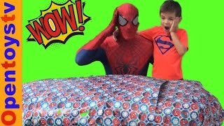 BIG SPIDERMAN PRESNT 5 AND SPIDERMAN FOR KIDS AND TOYS! OPENTOYSTV toys unboxing!
