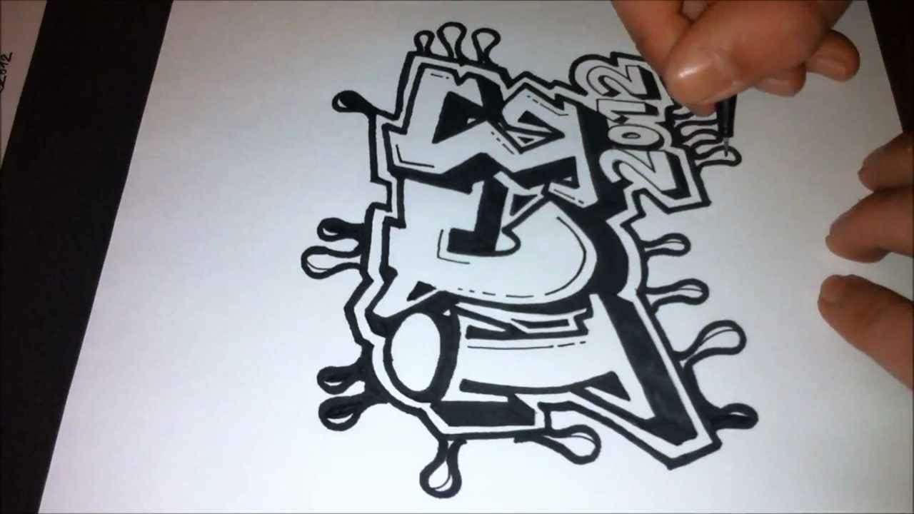 Easy To Draw Graffiti Letters - Wall Graffiti Art.