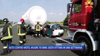 TG (22/09/2018) - AUTO CONTRO MOTO, MUORE 70ENNE: SESTA VITTIMA IN UNA SETTIMANA