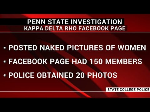 Penn State fraternity suspended for nude pictures on Facebook