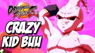 KID BUU GOING CRAZY... - Dragon Ball FighterZ: Adult Gohan, Beerus & Kid Buu Gameplay