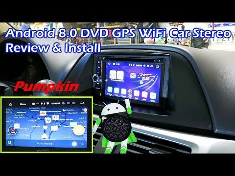 Android 8.0 DVD GPS WiFi BT Car Stereo Install - PUMPKIN