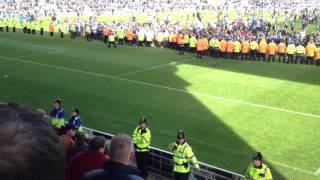 Wolves fan get kickin from Wigan fans 2012