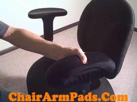 Chair Arm Pad Armrest Covers Gel or Memory Foam Quick Demo