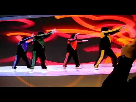 Jabbawockeez Performance At Hisense Booth Ces 2014 video