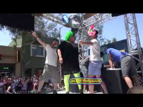 CHANNING TATUM & MATT BOMER Dancing!  LA Pride Parade 2015