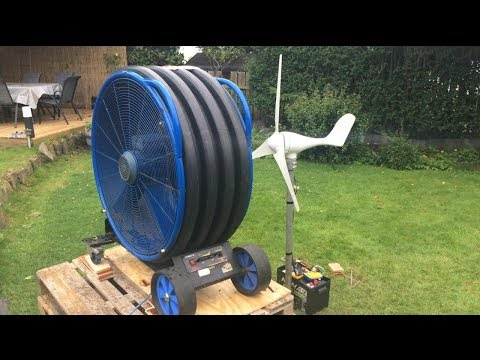 100 Watt Small Wind Turbine output test and review