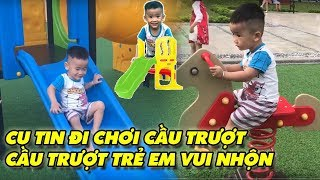 Cu Tin Đi chơi Cầu trượt trẻ em - Cầu trượt trẻ em vui nhộn - Đồ chơi trẻ em