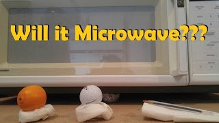 Will it Microwave? Orange, Golf Ball and Pen