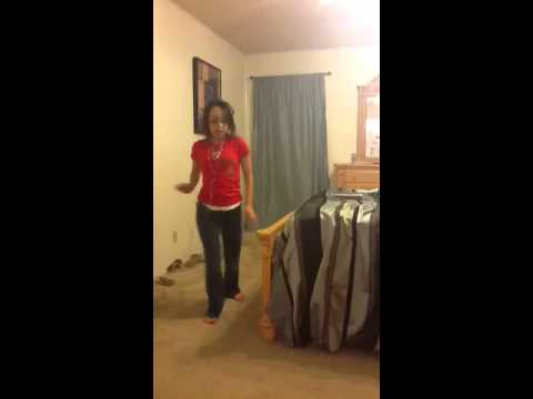 Girl Going Crazy Dancing In Bedroom video