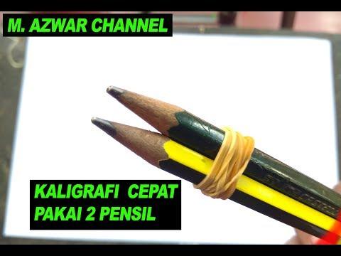 KEREN..! CARA MEMBUAT KALIGRAFI 2 PENSIL