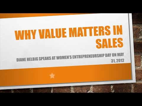 Why Value Matters In Sales