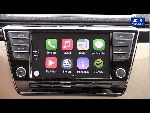 TECHCHECK Skoda Columbus Infotainment-System mit Apple CarPlay im neuen 2015 Skoda Superb (German)