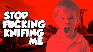 "BO2: ANGRY KID RAGES EVERY TIME HE GETS KNIFED! ""BLACK OPS 2 TROLLING"""