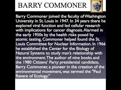 Barry Commoner and the Four Laws of Ecology