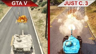 THE BIG GTA V vs. JUST CAUSE 3 SBS COMPARISON 2 | PC | ULTRA