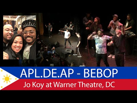 Jo Koy surprises the crowd at the DC Warner Theatre on October 2, 2015 with a performance by Apl.de.ap. He is a member of the Black Eyed Peas and sings the hit song Bebot. Also on stage King...