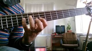 Super locrian scale with bass guitar
