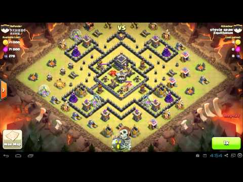 Clash of Clans - How to attack with Dragons - EquilibriumCoC