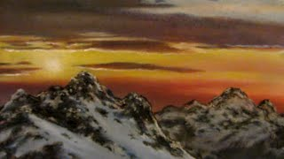 Painting a Mountain Sunset in Pastels