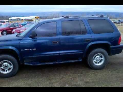 1999 Dodge Durango For Sale Blue 4x4 175k 3200 Youtube