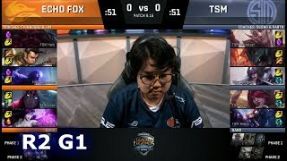 Echo Fox vs TSM - Game 1 | Round 2 S8 NA Regional Qualifier for S8 Worlds 2018 | TSM vs FOX G1