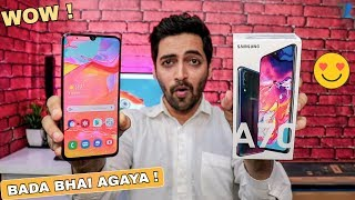 Samsung Galaxy A70 - Unboxing & Hands On | Redmi Note 7 Pro ka BADA BHAI !!😜