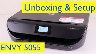 HP ENVY 5055 Unboxing and Wireless Setup - Wireless All-in-One Printer Copier Scanner