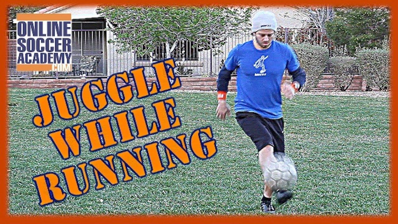 Dribbling Soccer Ball Soccer Ball While Running