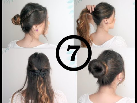 7 peinados fáciles y rápidos / 7 easy and quick everyday hairstyles