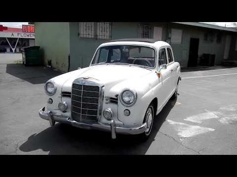 1958 mercedes benz 180 w120 ponton wabasto top cabriolet for Mercedes benz 180d for sale