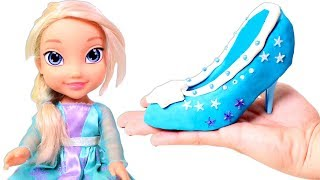 PRINCESSES 👠👑 Designing Cool Shoe for Snow Princess Using Play-Doh and Beads   Videos for Kids