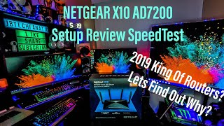 NETGEAR NIGHTHAWK X10 AD7200 SMART WI-FI ROUTER  Easy to Understand Review Setup & Speed Test!
