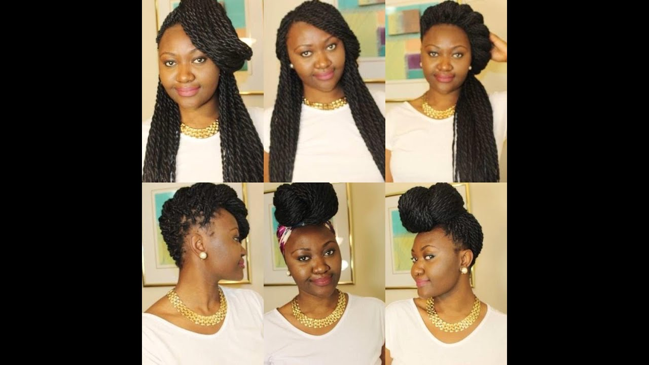 Box Braids Or Twist Hairstyles Casual Look Youtube