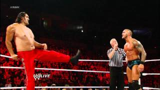 Raw: Randy Orton & The Great Khali vs. Wade Barrett & Cody