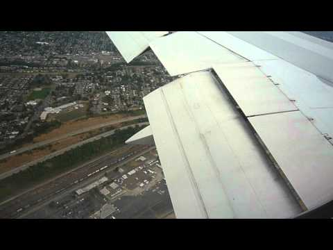 Landing at Seattle SeaTac Airport Delta Boeing 767-300ER flight from Amsterdam September, 2011