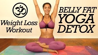 Gentle Yoga for Belly Fat, Digestion & Detox, Core Strength, 20 Minute Flow for Beginners at Home
