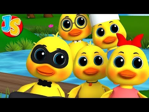 Five Little Ducks Went Swimming One Day | Ducks Song | Nursery Rhymes | Kids Songs