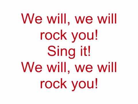 Queen - We will rock you (Lyrics)