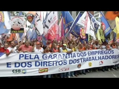 Brazil: Unions protest workers' rights changes - no comment