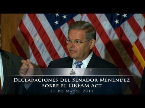 Declaraciones del Senador Robert Menendez sobre el DREAM Act
