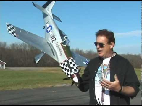 RC PLANE - THE GIANT. J POWER P-51 MUSTANG -  MAIDEN FLIGHT