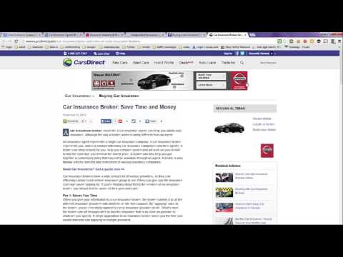 Auto Insurance Quotes Online Compared To Using A Broker