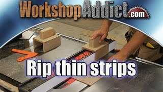 Make Your Own Thin Rip Push Jig for a Table Saw