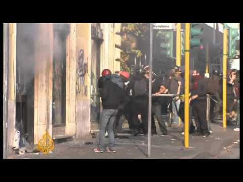 Protests gets violent in Rome